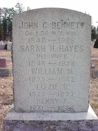 BENNETT, SARAH H - Warren County, New York | SARAH H BENNETT - New York Gravestone Photos