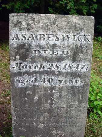 BESWICK, ASA - Warren County, New York | ASA BESWICK - New York Gravestone Photos