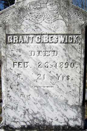 BESWICK, GRANT COLFAX - Warren County, New York   GRANT COLFAX BESWICK - New York Gravestone Photos