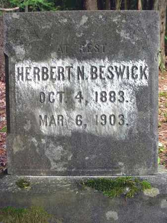 BESWICK, HERBERT N - Warren County, New York | HERBERT N BESWICK - New York Gravestone Photos
