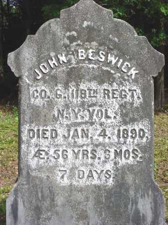 BESWICK (CW), JOHN - Warren County, New York | JOHN BESWICK (CW) - New York Gravestone Photos