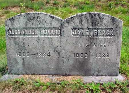 BLACK BOVARD, JANE - Warren County, New York | JANE BLACK BOVARD - New York Gravestone Photos