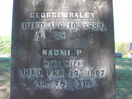 BRALEY, GEORGE - Warren County, New York | GEORGE BRALEY - New York Gravestone Photos