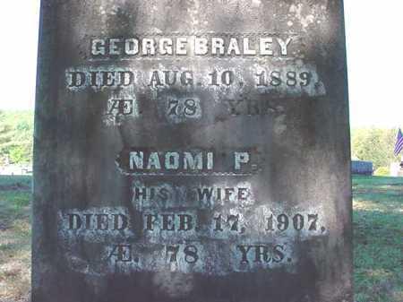 BRALEY, NAOMI P - Warren County, New York | NAOMI P BRALEY - New York Gravestone Photos