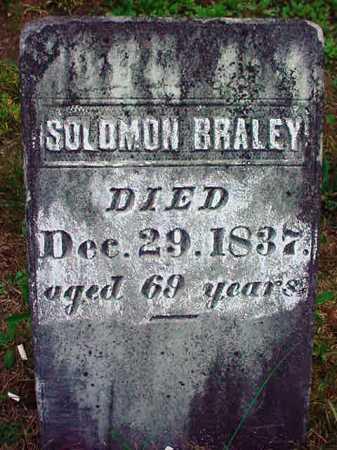 BRALEY, SOLOMON - Warren County, New York | SOLOMON BRALEY - New York Gravestone Photos