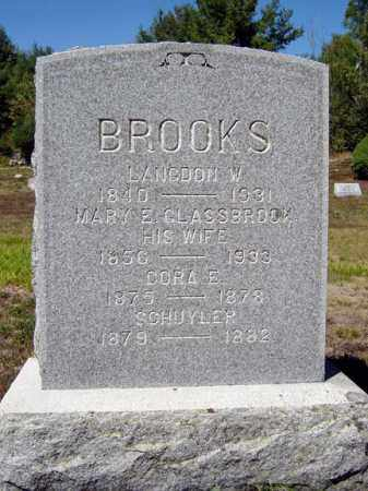 BROOKS, LANGDON W - Warren County, New York | LANGDON W BROOKS - New York Gravestone Photos