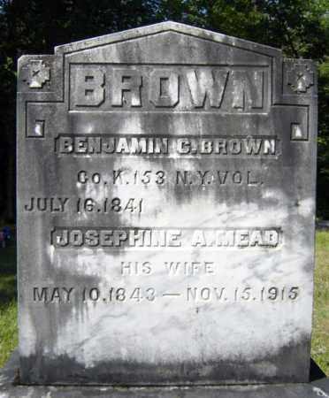 BROWN, BENJAMIN C - Warren County, New York | BENJAMIN C BROWN - New York Gravestone Photos