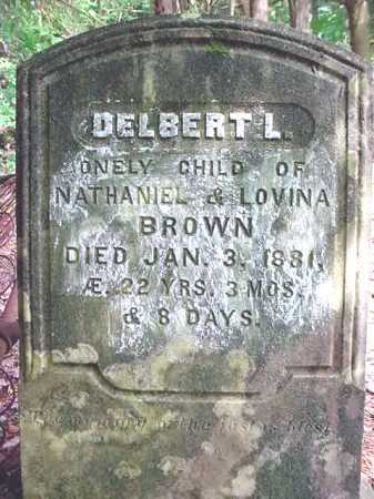 BROWN, DELBERT L - Warren County, New York | DELBERT L BROWN - New York Gravestone Photos