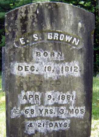 BROWN, E S - Warren County, New York | E S BROWN - New York Gravestone Photos
