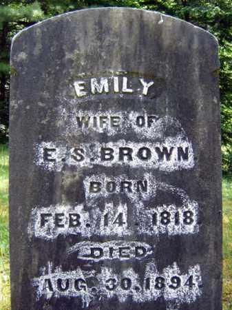 BROWN, EMILY - Warren County, New York | EMILY BROWN - New York Gravestone Photos