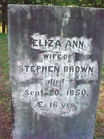 BROWN, ELIZA ANN - Warren County, New York   ELIZA ANN BROWN - New York Gravestone Photos