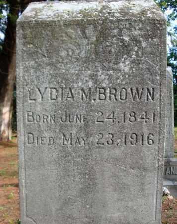 BROWN, LYDIA M - Warren County, New York | LYDIA M BROWN - New York Gravestone Photos