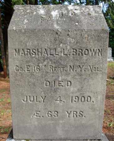 BROWN, MARSHALL L - Warren County, New York | MARSHALL L BROWN - New York Gravestone Photos