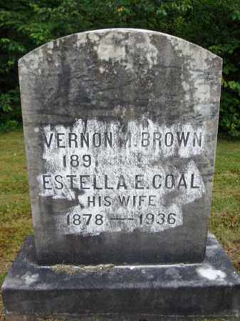 BROWN, ESTELLA E - Warren County, New York | ESTELLA E BROWN - New York Gravestone Photos
