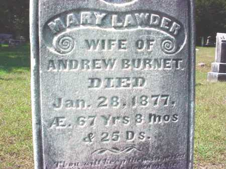 BURNET, MARY - Warren County, New York | MARY BURNET - New York Gravestone Photos