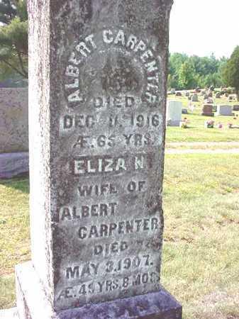 CARPENTER, ELIZA N - Warren County, New York | ELIZA N CARPENTER - New York Gravestone Photos