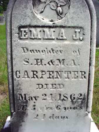 CARPENTER, EMMA J - Warren County, New York | EMMA J CARPENTER - New York Gravestone Photos