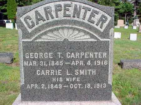 SMITH CARPENTER, CARRIE L - Warren County, New York | CARRIE L SMITH CARPENTER - New York Gravestone Photos