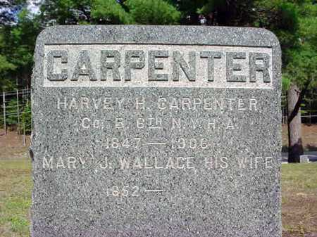WALLACE CARPENTER, MARY J - Warren County, New York | MARY J WALLACE CARPENTER - New York Gravestone Photos