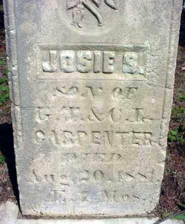 CARPENTER, JOSIE S - Warren County, New York | JOSIE S CARPENTER - New York Gravestone Photos