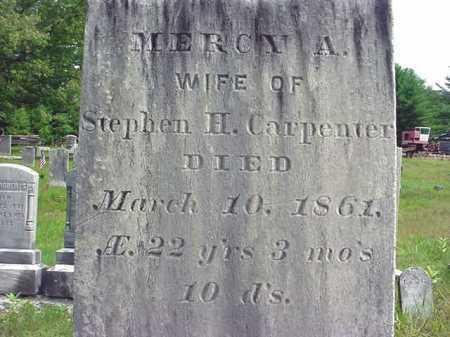 CARPENTER, MERCY A - Warren County, New York | MERCY A CARPENTER - New York Gravestone Photos