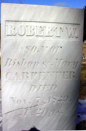 CARPENTER, ROBERT W - Warren County, New York   ROBERT W CARPENTER - New York Gravestone Photos