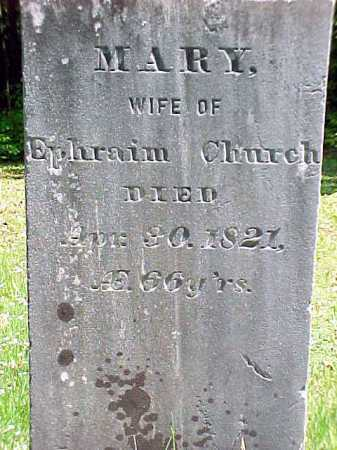 CHURCH, MARY - Warren County, New York   MARY CHURCH - New York Gravestone Photos