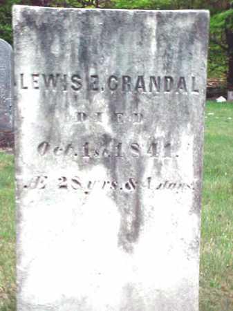 CRANDAL, LEWIS E - Warren County, New York | LEWIS E CRANDAL - New York Gravestone Photos