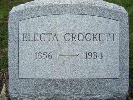 CROCKETT, ELECTA - Warren County, New York   ELECTA CROCKETT - New York Gravestone Photos