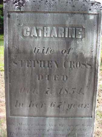 CROSS, CATHARINE - Warren County, New York | CATHARINE CROSS - New York Gravestone Photos