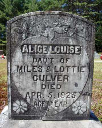 CULVER, ALICE LOUISE - Warren County, New York | ALICE LOUISE CULVER - New York Gravestone Photos
