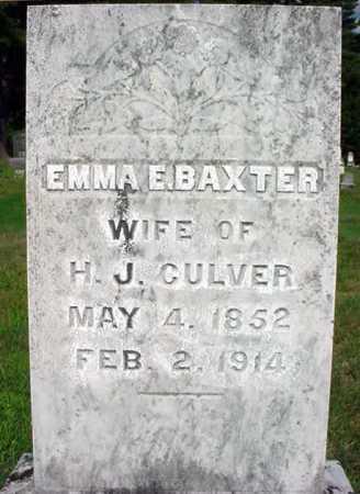 BAXTER CULVER, EMMA E - Warren County, New York | EMMA E BAXTER CULVER - New York Gravestone Photos