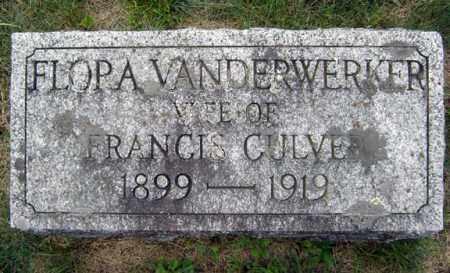 CULVER, FLORA - Warren County, New York | FLORA CULVER - New York Gravestone Photos