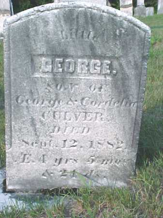CULVER, GEORGE - Warren County, New York | GEORGE CULVER - New York Gravestone Photos