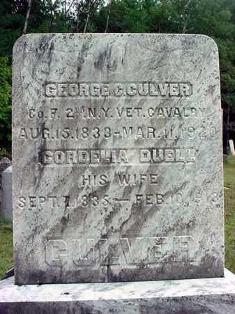CULVER, CORDELIA - Warren County, New York | CORDELIA CULVER - New York Gravestone Photos