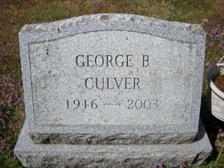 CULVER, GEORGE B - Warren County, New York | GEORGE B CULVER - New York Gravestone Photos