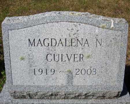 CULVER, MAGDALENA N - Warren County, New York | MAGDALENA N CULVER - New York Gravestone Photos