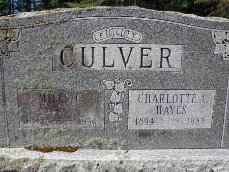CULVER, MILES C - Warren County, New York | MILES C CULVER - New York Gravestone Photos