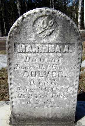 CULVER, MARINDA A - Warren County, New York | MARINDA A CULVER - New York Gravestone Photos