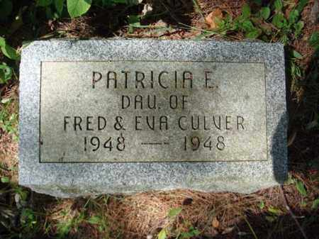 CULVER, PATRICIA E - Warren County, New York | PATRICIA E CULVER - New York Gravestone Photos