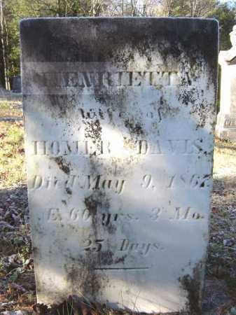 DAVIS, HENRIETTA - Warren County, New York   HENRIETTA DAVIS - New York Gravestone Photos