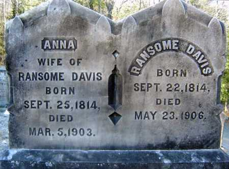 DAVIS, ANNA - Warren County, New York | ANNA DAVIS - New York Gravestone Photos