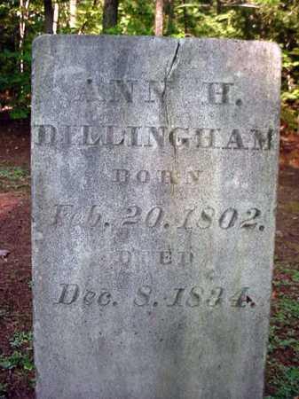 DILLINGHAM, ANN H - Warren County, New York | ANN H DILLINGHAM - New York Gravestone Photos