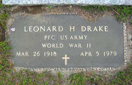DRAKE, LEONARD H - Warren County, New York | LEONARD H DRAKE - New York Gravestone Photos