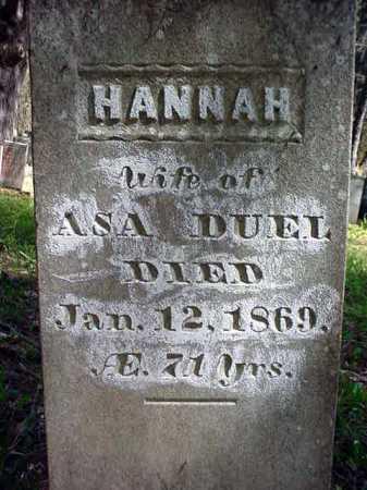 DUEL, HANNAH - Warren County, New York | HANNAH DUEL - New York Gravestone Photos