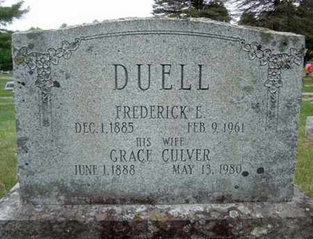 CULVER DUELL, GRACE - Warren County, New York | GRACE CULVER DUELL - New York Gravestone Photos