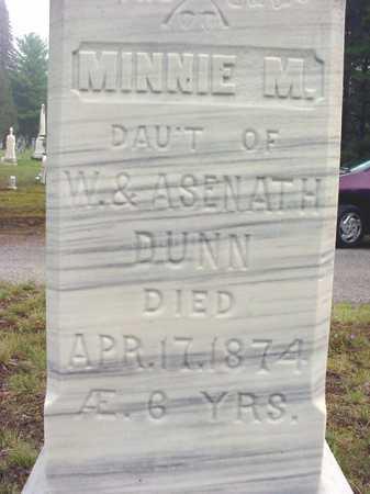 DUNN, MINNIE M - Warren County, New York | MINNIE M DUNN - New York Gravestone Photos