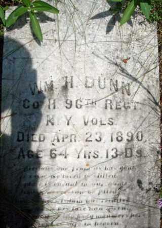 DUNN (CW), WILLIAM H - Warren County, New York | WILLIAM H DUNN (CW) - New York Gravestone Photos