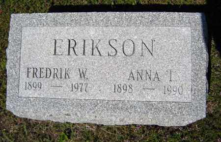 ERIKSON, ANNA I - Warren County, New York | ANNA I ERIKSON - New York Gravestone Photos