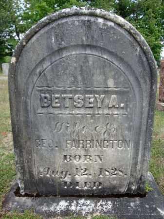FARRINGTON, BETSEY A - Warren County, New York | BETSEY A FARRINGTON - New York Gravestone Photos